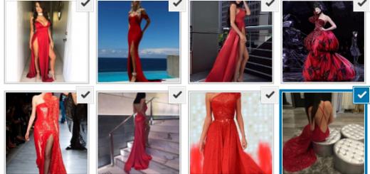 дълги червени секси рокли