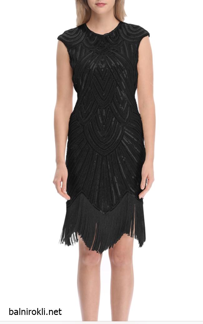къса чрна рокля ретро стил