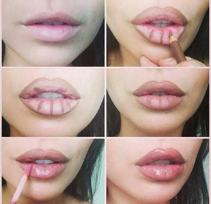 Как да си направим плътни устни