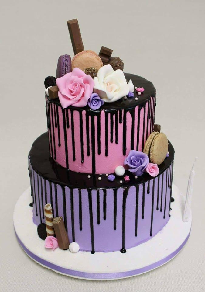 Лилаворозова торта