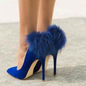 Бални Сини Обувки