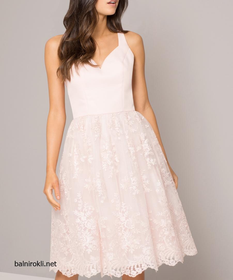 Къса Бална розова рокля тюл