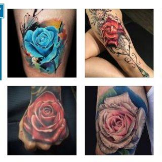 Най-Красивите Дамски Татуировки с Рози