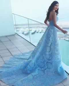 Дълги Дизайнерски Рокли за Принцеси 2018