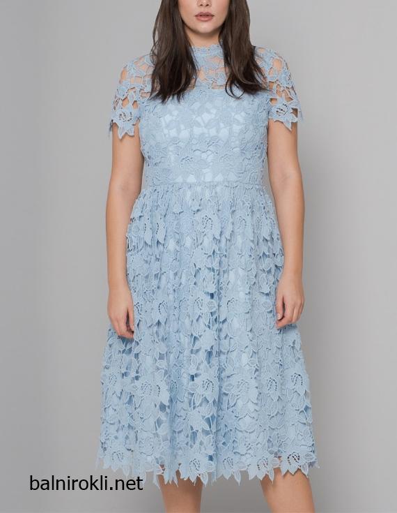 ДАНТЕЛЕНА вечерна рокля макси размери