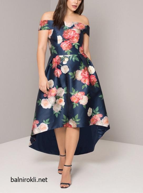 Асиметрична официална рокля макси дами 2018