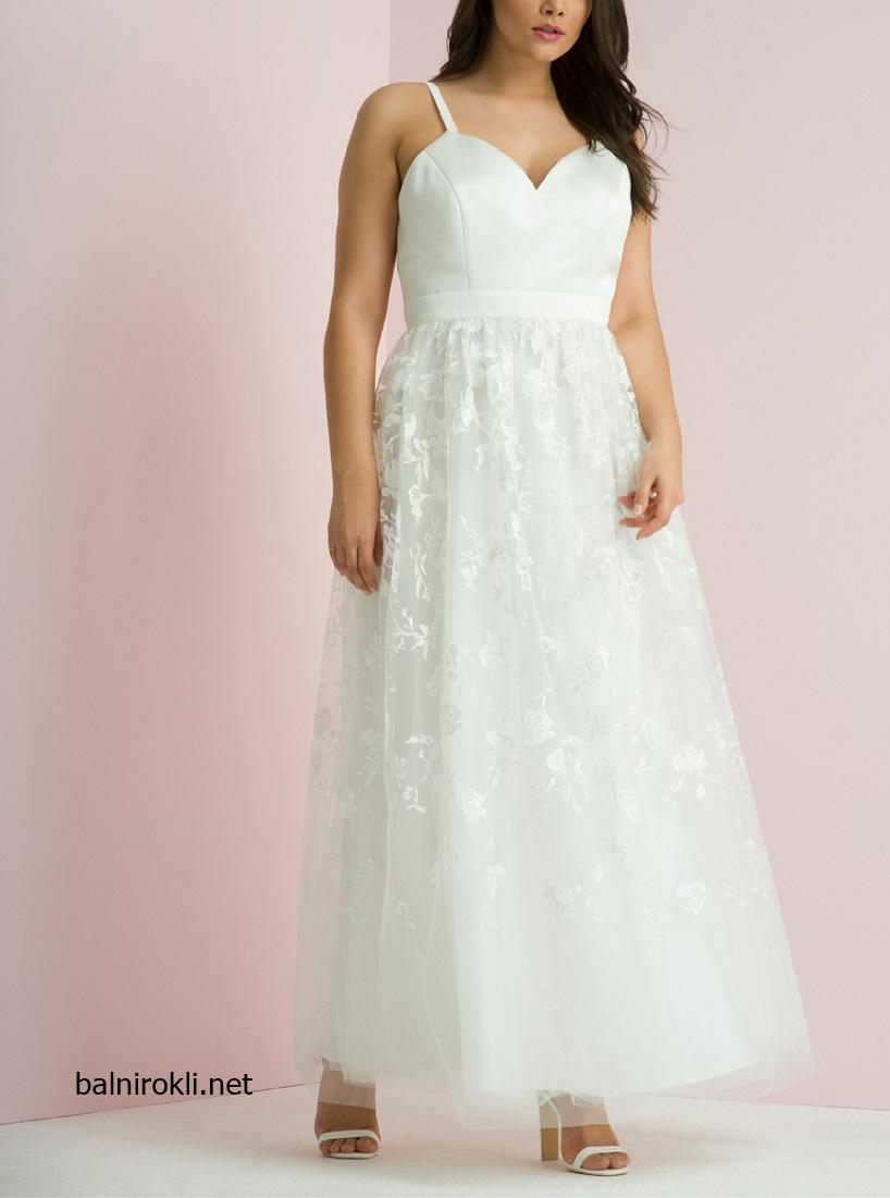 Бяла дълга бална рокля макси дами