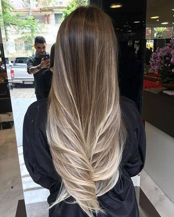 прическа дълга коса омбре
