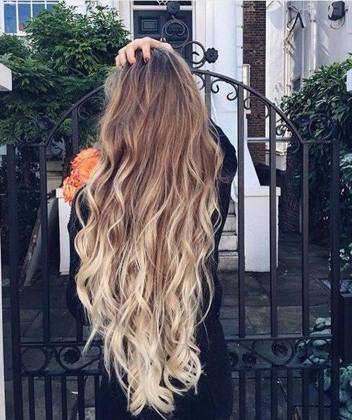 прическа за дълга коса омбре