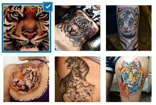дамски татуировки с тигър