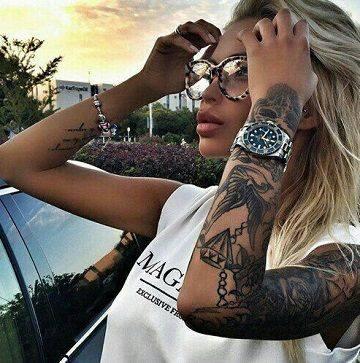 красива татуировка за цяла женска ръка