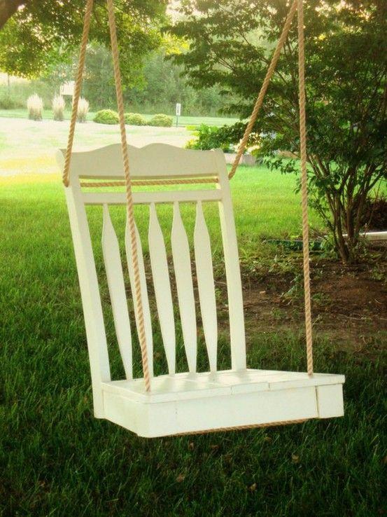 детска люлка от счупен стол