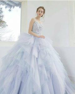 светлосиня бална рокля