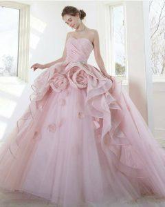 дълга бална рокля пепел от рози