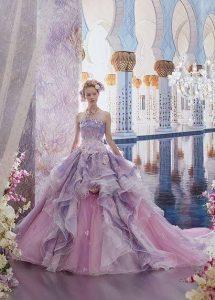 розова дълга бална рокля за принцеса