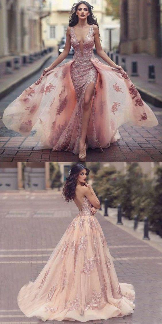 розова бална рокля
