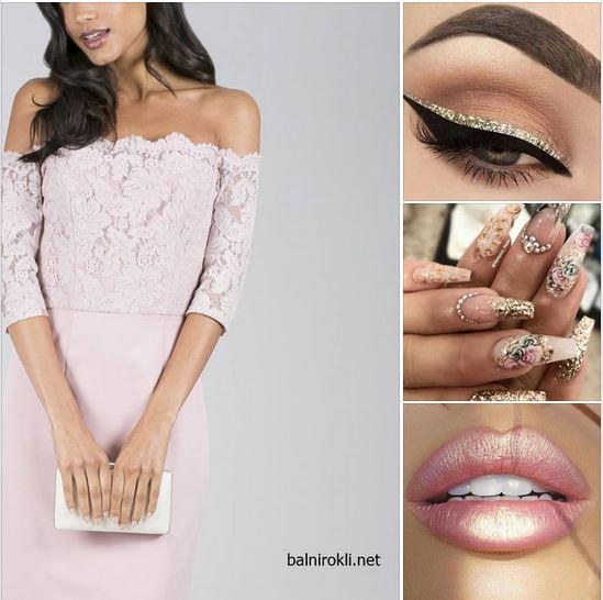 розова къса бална рокля