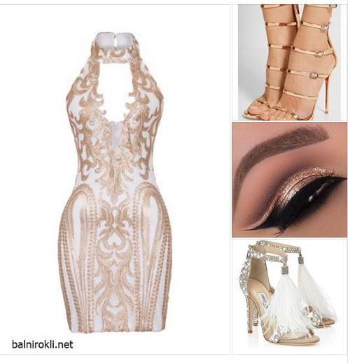 къса блестяща рокля златиста