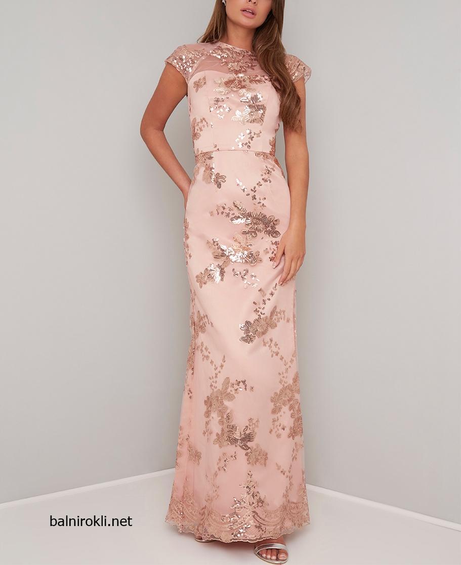 бална златиста официална рокля