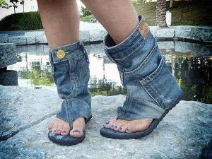 летни дънкови боти сандал