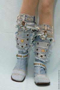 летни дънкови ботушки