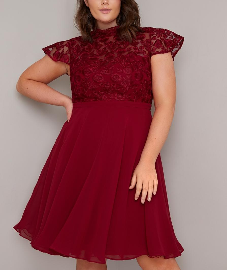 официална коктейлна рокля средна дължина цвят бордо макси дами