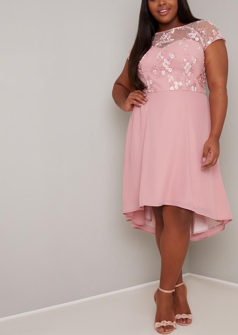 Абитуриентска Асиметрична Розова бална рокля МАКСИ ДАМИ 2020