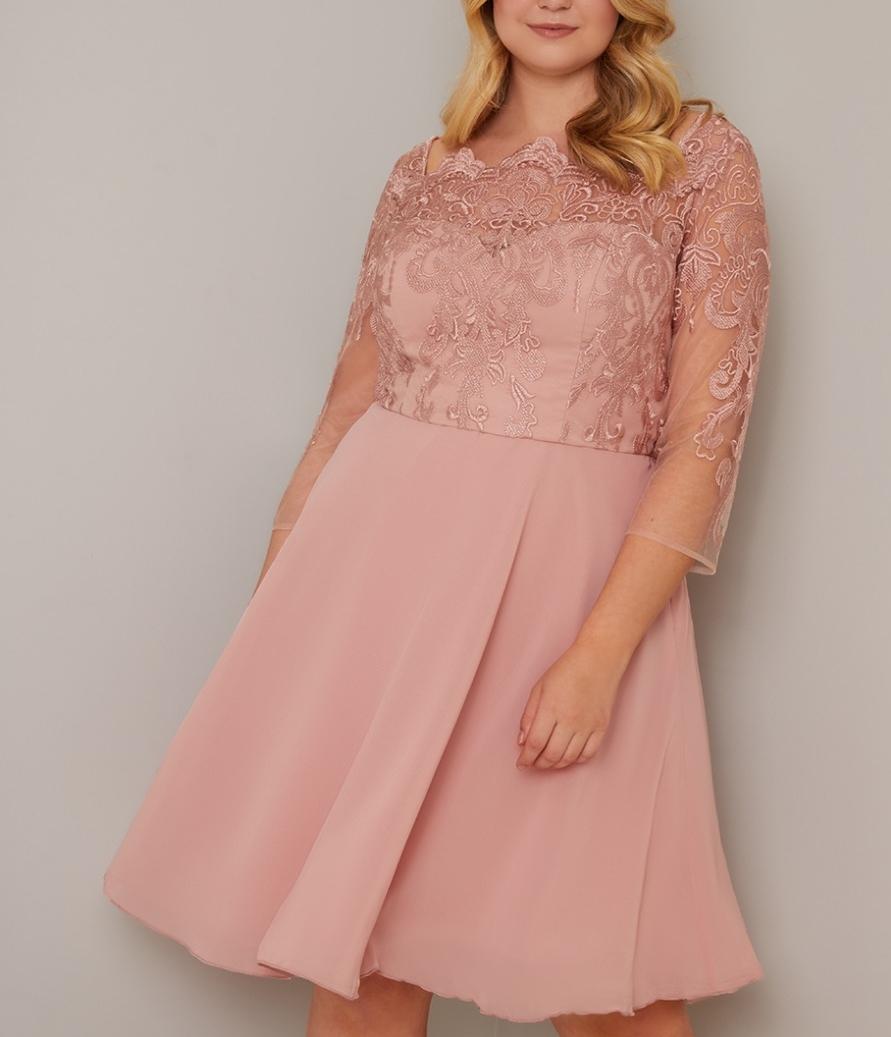 абитуриентска къса розова бална рокля макси размери