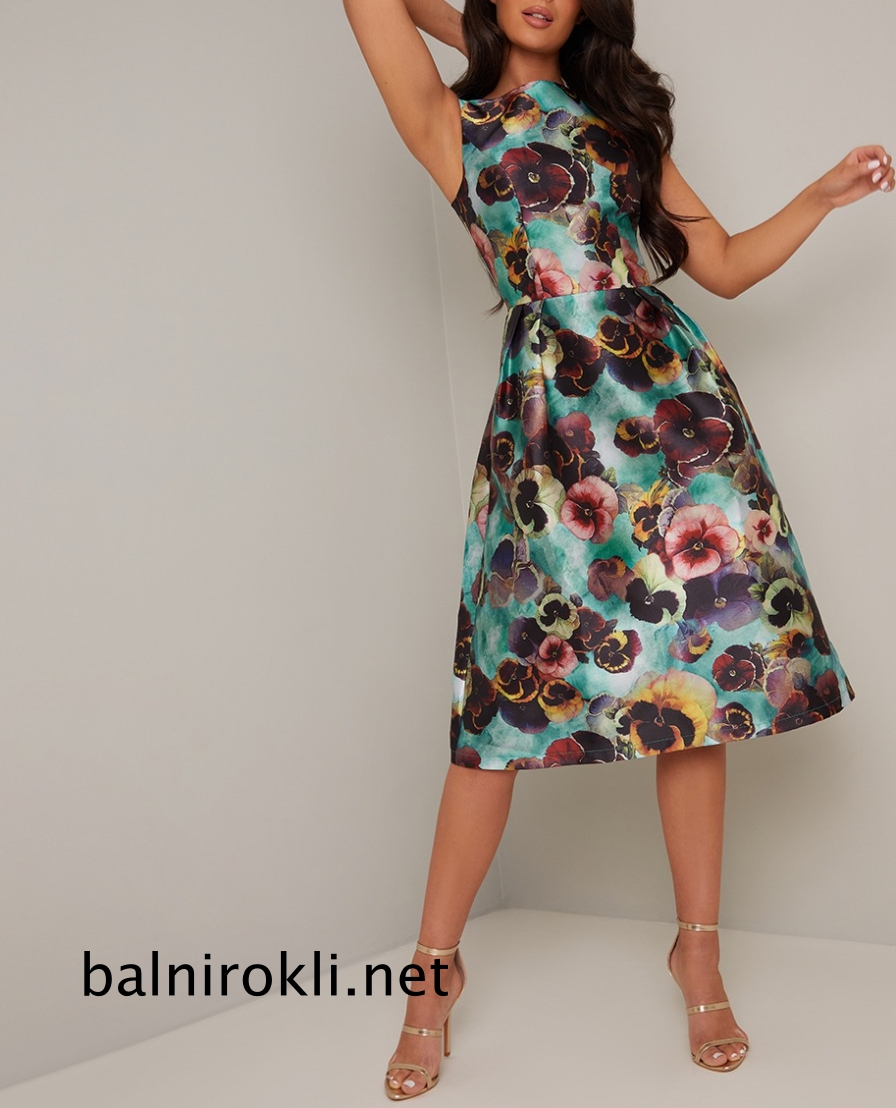 абитуриентска къса рокля теменужки