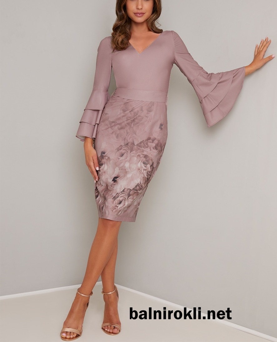 къса лилава абитуриентска рокля