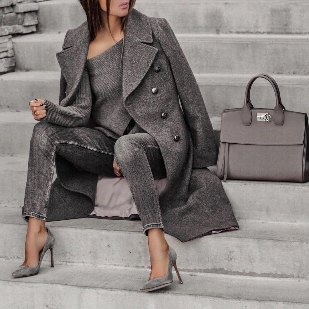 сиво палто