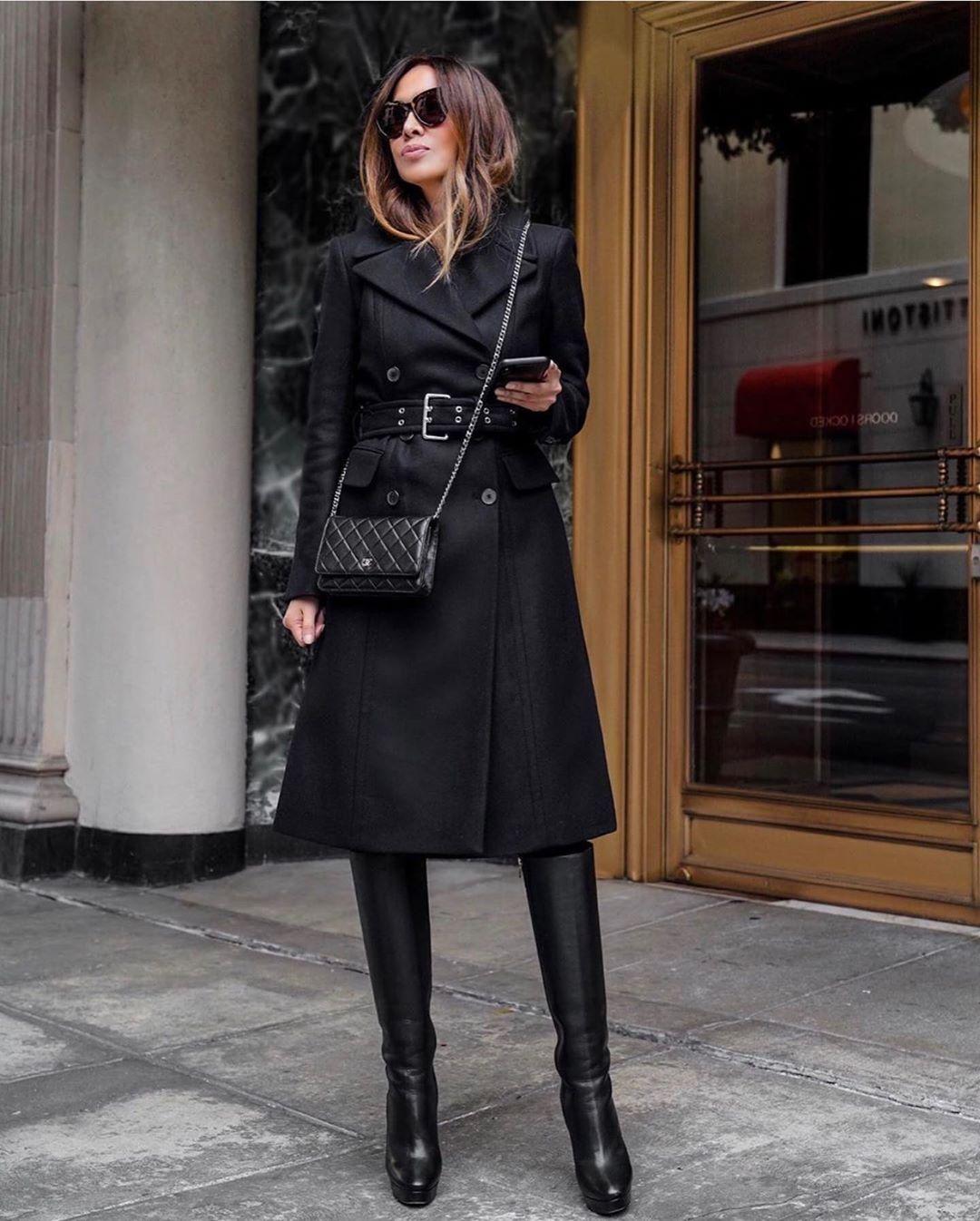 черно палто