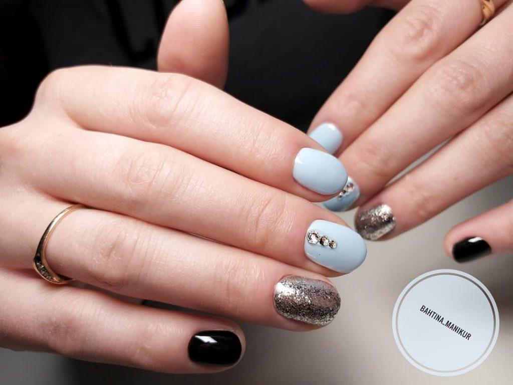 ежедневен маникюр за къси нокти