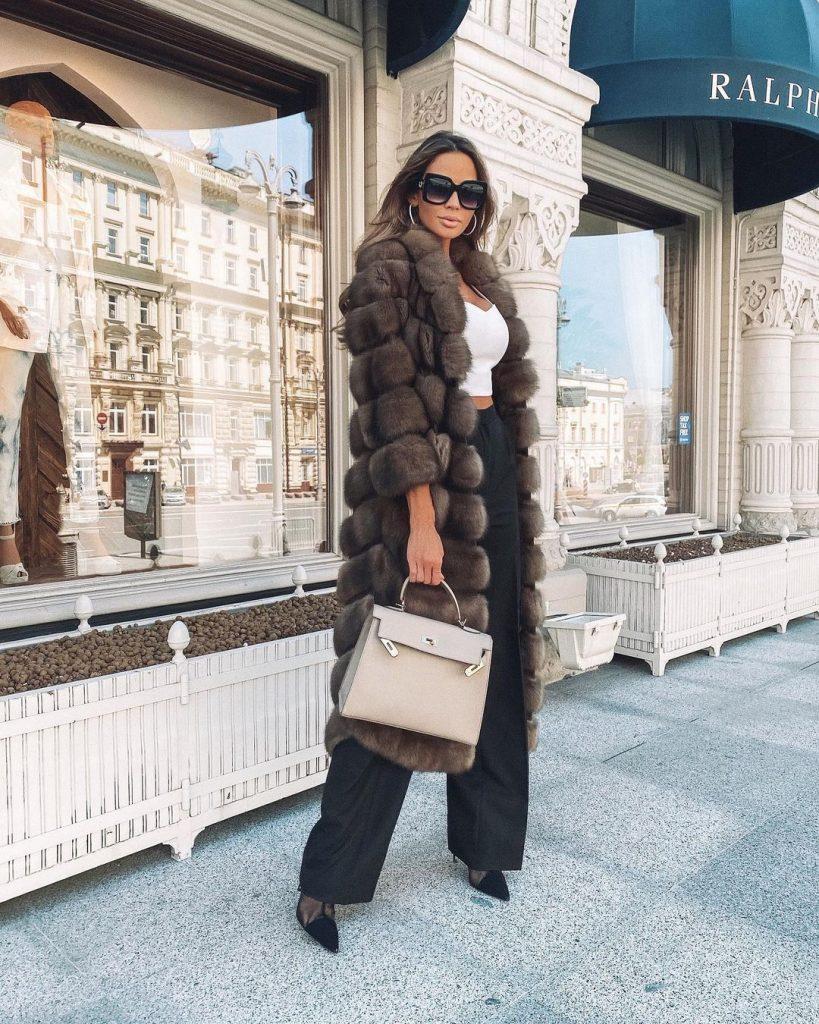 дълго кожено палто 2021