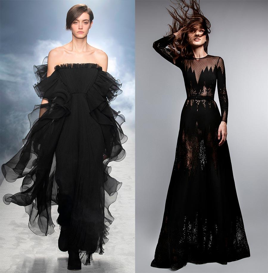 черни вечерни рокли