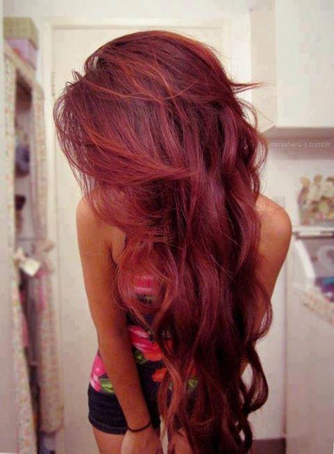дълга чеврена коса