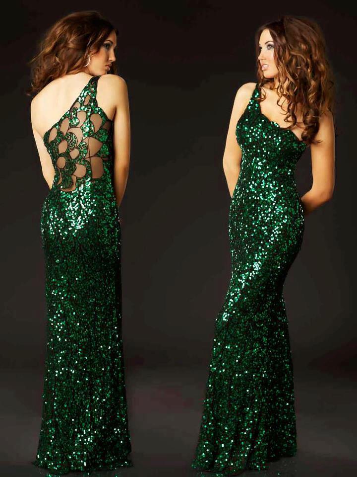 секси блестяща зелена бална рокля
