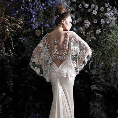елегантна дълга рокля с дантела и гол гръб