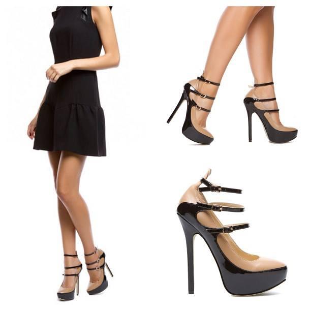 секси черни обувки за бал