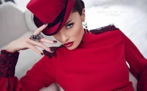 секси червена шапка