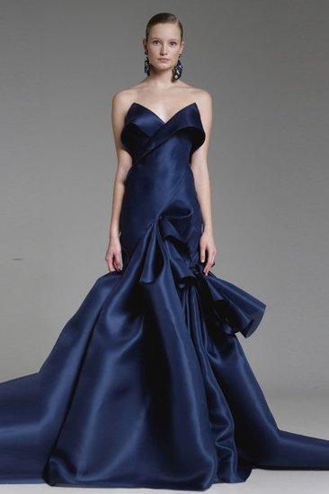 синя бална рокля тафта