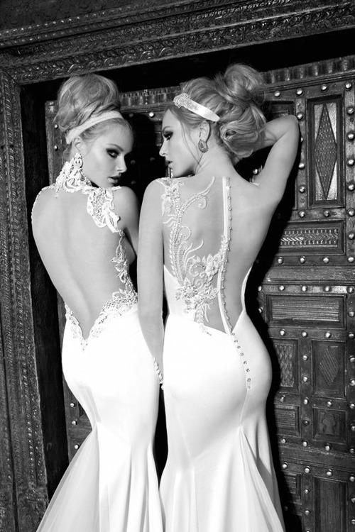 tсекси бяла рокля гол гръб