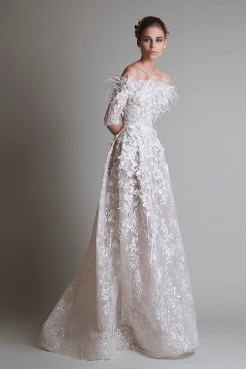 дантелена дълга бална рокля