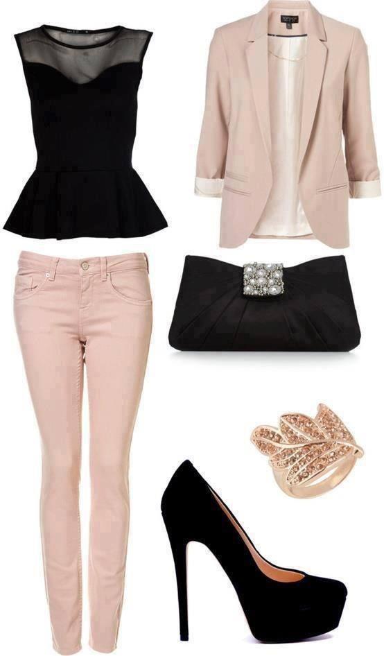 ансамбъл в черно и розово