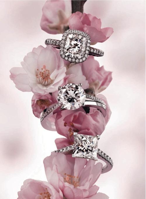 пръстени с диаманти
