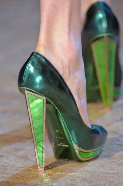зелени официални обувки