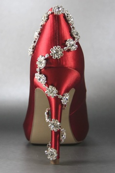 червени бални обувки 2014