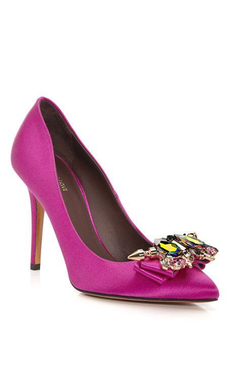 лилави официални обувки