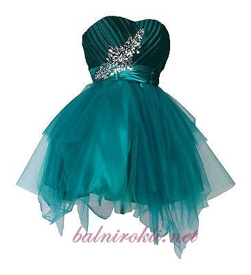 абитуриентска къса рокля с диаманти 2014