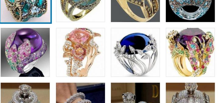 Бижута-пръстени със скъпоценни камъни